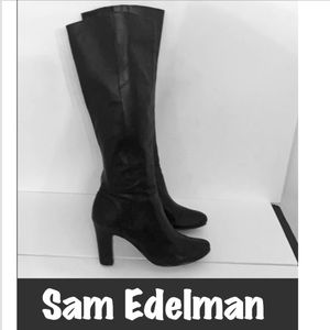 Authentic Sam Edelman tall black leather boots 9